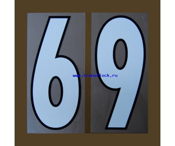 спортивные номера белые