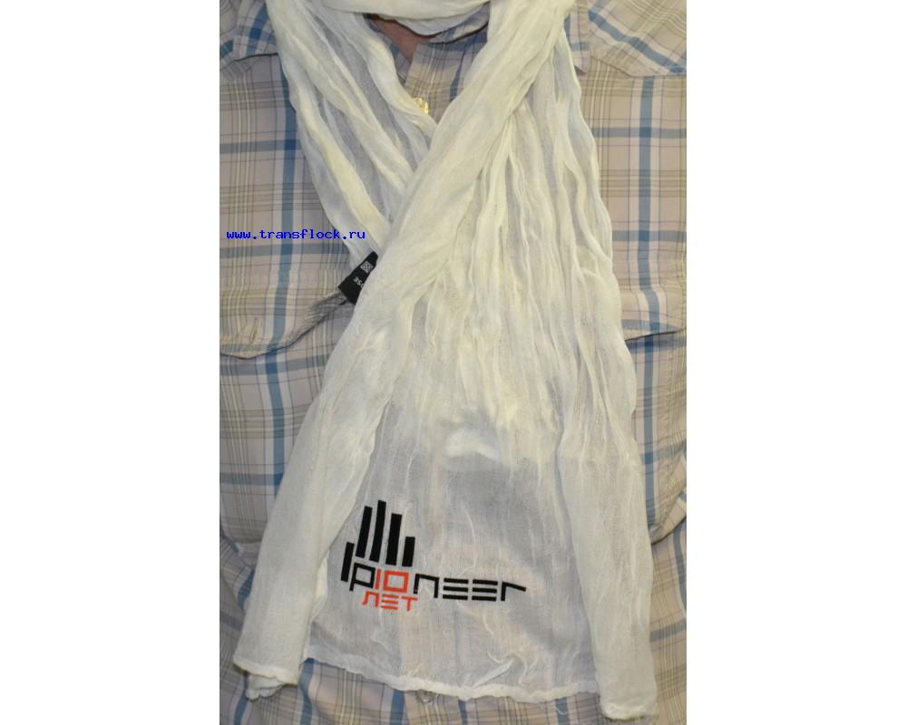 Нанесение логотипа на шарфы