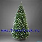Заснеженные новогодние елки производство